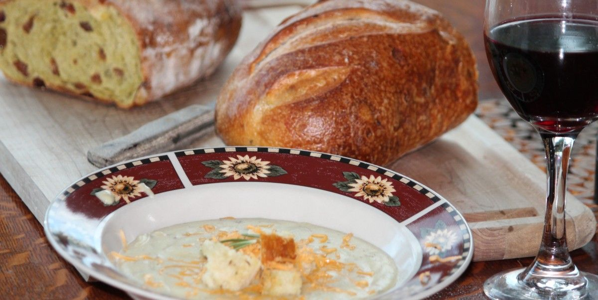 Roasted Garlic Soup With Rosemary Roasted Potatoes Recipes ...
